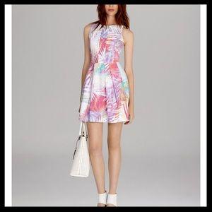 Karen Millen Palm Tree Print Mini Dress
